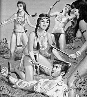 Nackte Indianerinnen