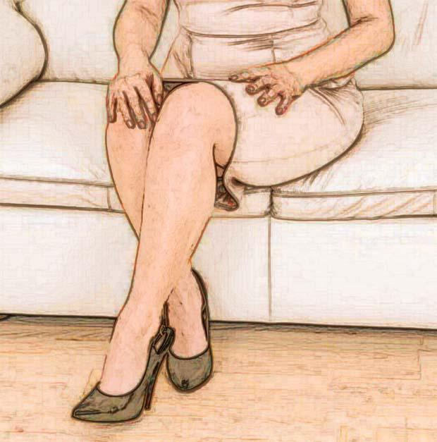 Frau legt mann übers knie